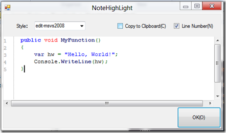 Insert Formatted Code into OneNote